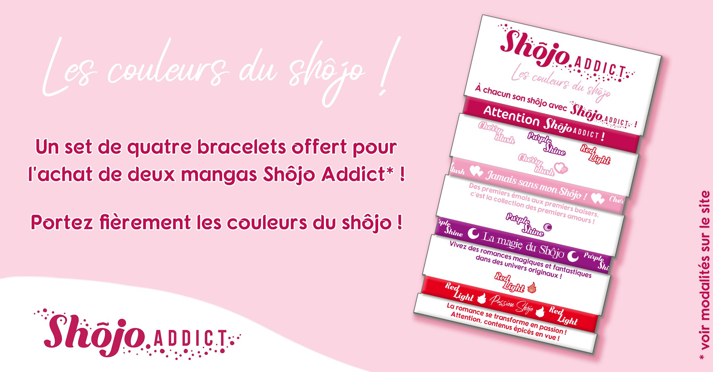 Des bracelets Shôjo Addict en librairie !
