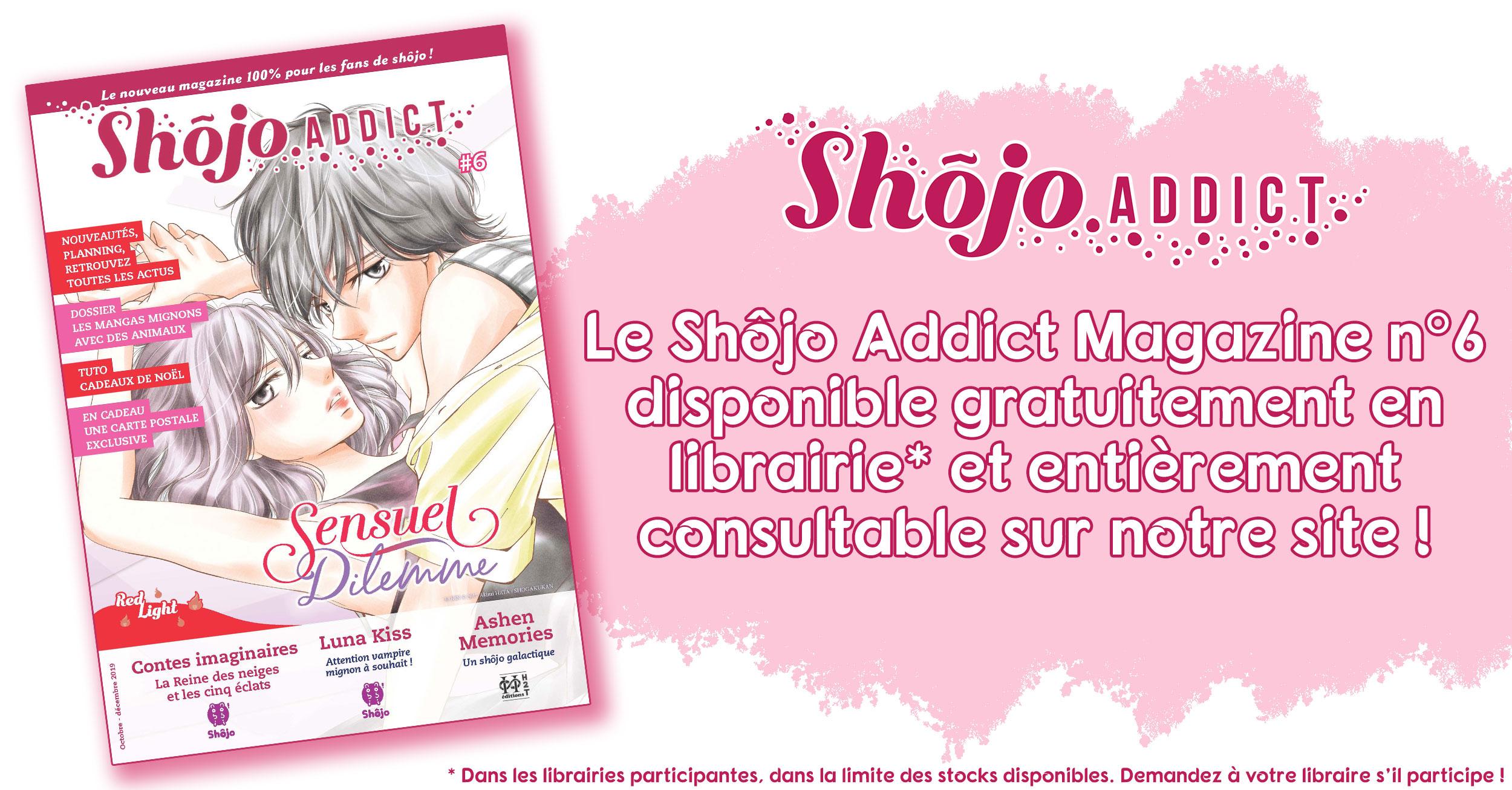 Bannière Annonce Magazine Shôjo Addict n°6