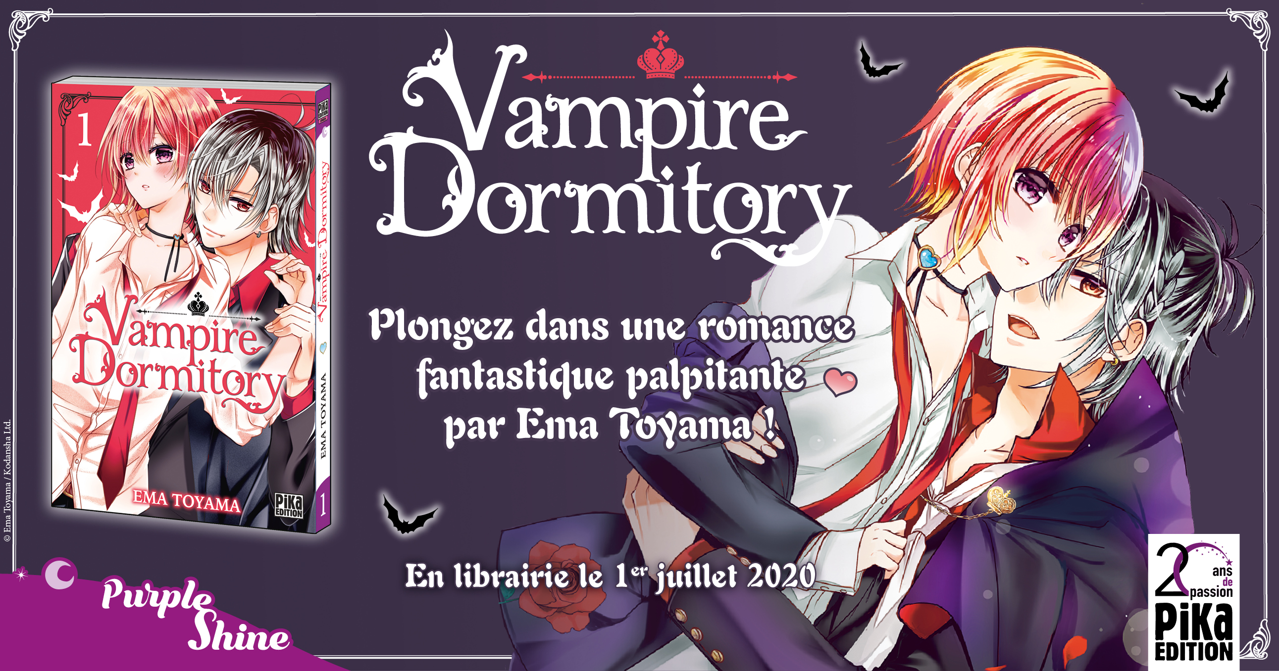 Vampire Dormitory emménage dans la collection Pika Shôjo le 1er ...