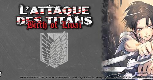 Bannière Annonce L'Attaque des Titans - Birth of Livaï