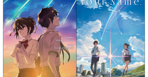 Couvertures du roman et du manga Your Name.