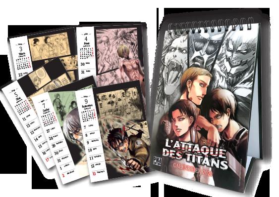 L'Attaque des Titans tome 29 édition limitée avec un calendrier
