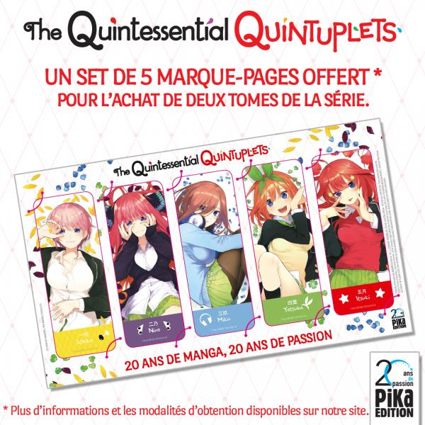 offre marque-pages The Quintessential Quintuplets